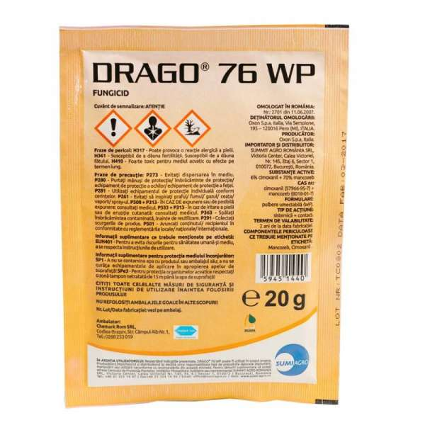 Fungicid Drago 76 WP  200 gr