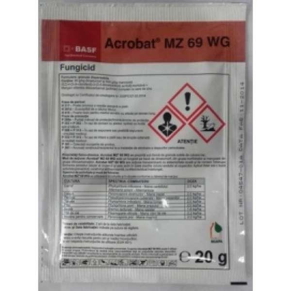 Fungicid Acrobat MZ 69 WG  20 gr